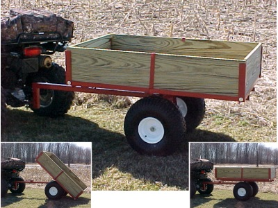 Single Axle Atv Utility Dump Trailer Model 5450atv By