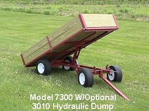 1 Ton Capacity Utility Dump Atv Wagon Model 7300 By