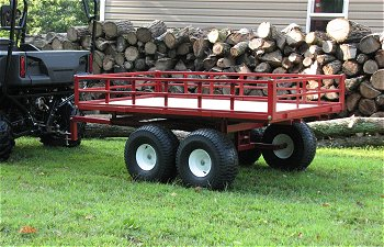 2500 lb UTV twin axle tandem trailer