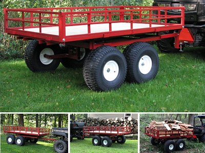 Atv Trailers Tandem Axle For Firewood And Off Road Use By Country Atv Products