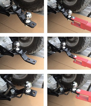 Atv 3 Way Hitch Adapter By Country Atv